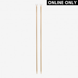 DMC 40 cm. Rose Gold Aluminium Single Point Knitting Needles - 5.5 mm.