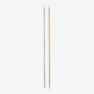 DMC 40 cm. Rose Gold Aluminium Single Point Knitting Needles - 6 mm.