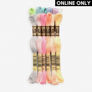DMC Stranded Cotton Embroidery Thread Color Pack (The Pastel Pack)