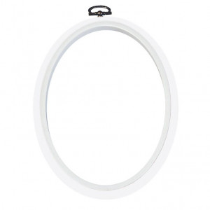 "DMC® 7"" Oval White Flexy Hoop Frame"