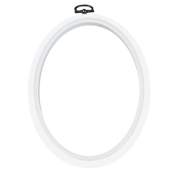 Dmc 5 Oval White Flexy Hoop Frame At Yarns Dubai Yarnsdubai