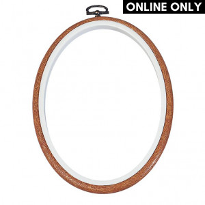 DMC 12.5 cm. Oval Wood Flexy Hoop Frame