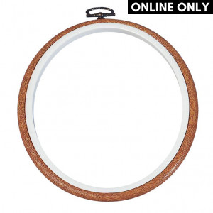 "DMC® 5"" Round Wood Flexy Hoop Frame"