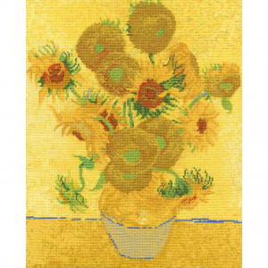 DMC® Counted Cross Stitch Kit - Sunflowers by Van Gogh