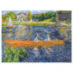 DMC® Counted Cross Stitch Kit - The Skiff by Renoir