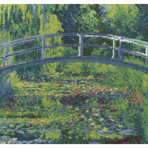 DMC® Counted Cross Stitch Kit - The Water-Lily Pond by Monet