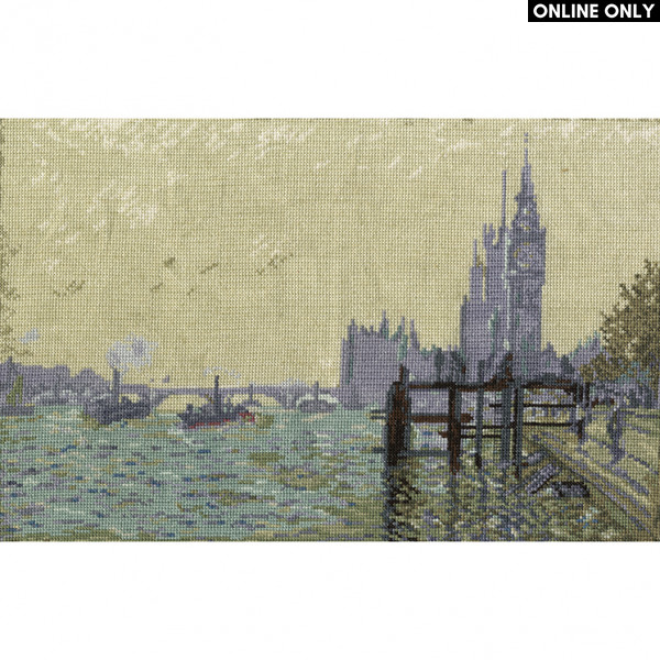 DMC® Counted Cross Stitch Kit - The Thames Below Westminster by Monet
