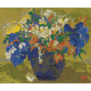 DMC® Counted Cross Stitch Kit - A Vase of Flowers by Gauguin