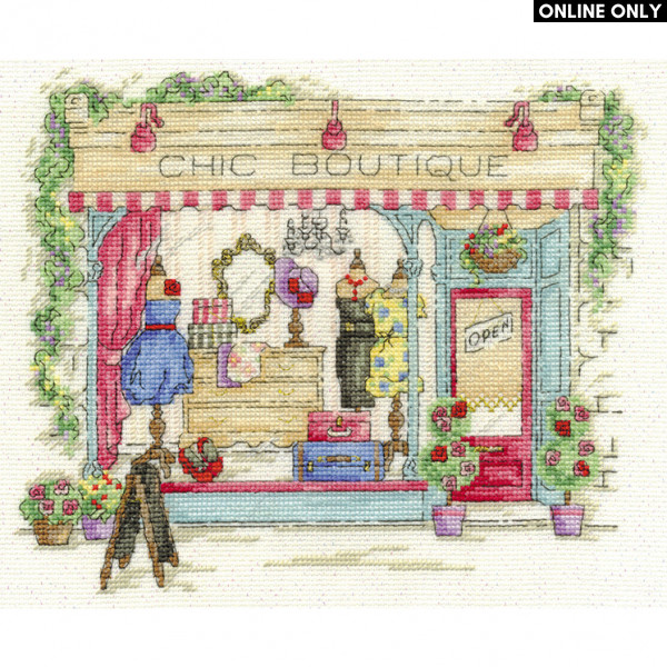 DMC Counted Cross Stitch Kit - Chic Boutique