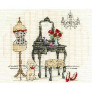DMC® Counted Cross Stitch Kit - Le Boudoir