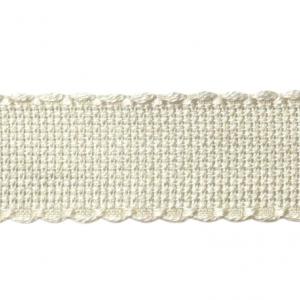 DMC Aida Cross Stitch Lace, Flat Pack, 16ct, 10 cm. x 20 cm. (Ecru)