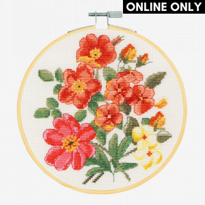 DMC Counted Cross Stitch Kit - Wild Roses