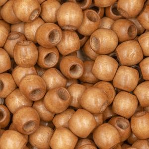 Handmayk Medium Brown Beads, 10 mm., Pack of 12