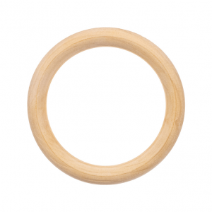 wone Natural Wood Ring, 50 mm., Pack of 2