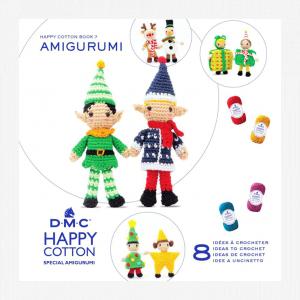 DMC Happy Cotton Amigurumi Pattern Book (Christmas Couples)