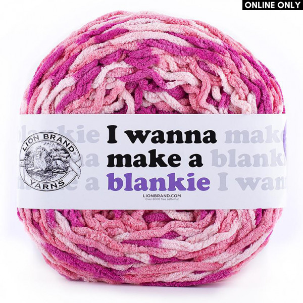 Lion Brand I Wanna Make a Blankie Yarn - Zinnia (207)