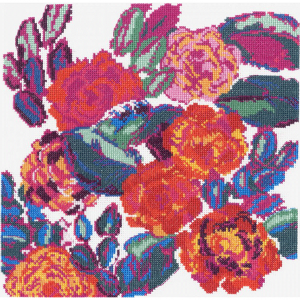 DMC Counted Cross Stitch Kit - Rose Composition from Variations by Edouard Benedictus