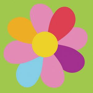 DMC Half Stitch Tapestry Kit - Colored Flower