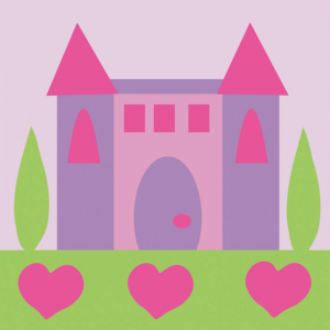 DMC Half Stitch Tapestry Kit - Princess Castle