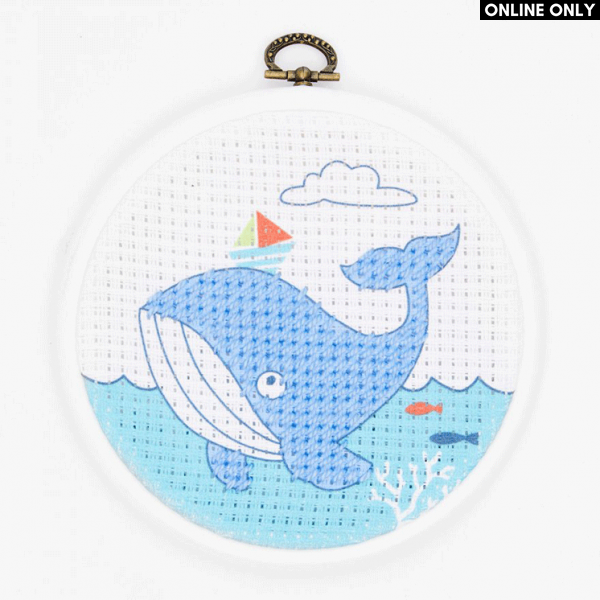 DMC Half Stitch Embroidery Kit - The Whale