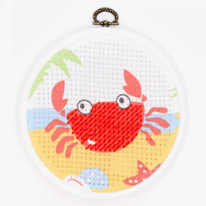 DMC Half Stitch Embroidery Kit - The Crab