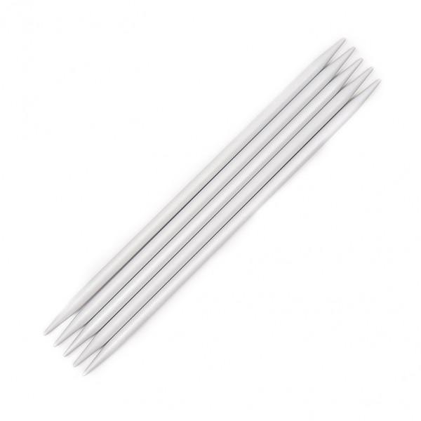 KnitPro 15 cm. Basix Aluminium Double Point Knitting Needles - 4.5 mm.
