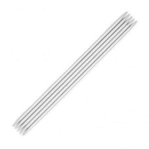 "KnitPro™ 8"" Basix Aluminium Double Point Knitting Needles - 3 mm."