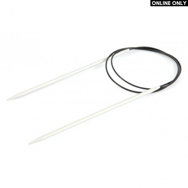 "KnitPro™ 24"" Basix Aluminium Fixed Circular Knitting Needles - 2 mm."