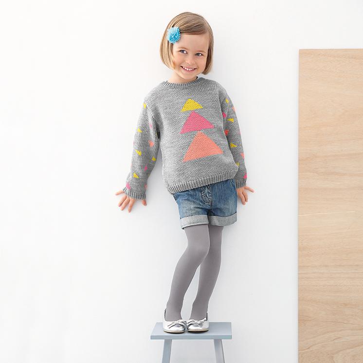 Girls Sweater Pattern In Phildar Lambswool At Yarns Dubai
