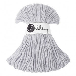 Bobbiny Premium Macramé Cord Yarn, Light Grey, 3 mm.