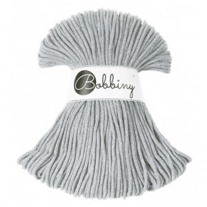 Bobbiny Premium Macramé Cord Yarn, Silver, 3 mm.