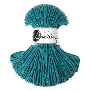 Bobbiny Premium Macramé Cord Yarn, Teal, 3 mm.
