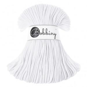 Bobbiny Premium Macramé Cord Yarn, White, 3 mm.