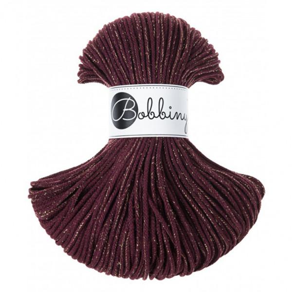 Bobbiny® Premium Macramé Cord Yarn, Golden Maroon, 3 mm.