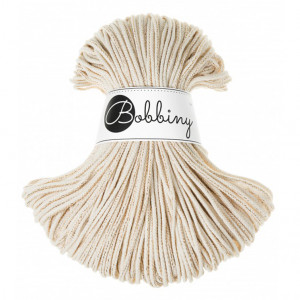 Bobbiny Premium Macramé Cord Yarn, Golden Natural, 3 mm.
