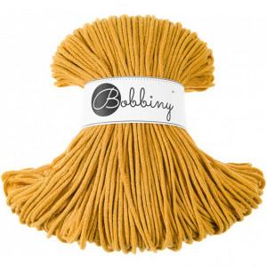 Bobbiny® Premium Macramé Cord Yarn, Mustard, 3 mm.