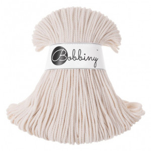 Bobbiny Premium Macramé Cord Yarn, Natural, 3 mm.