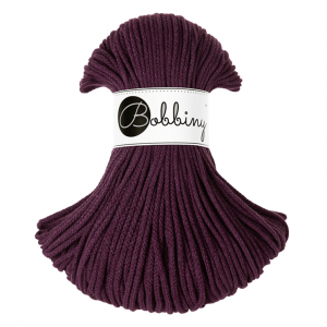 Bobbiny Premium Macramé Cord Yarn, Blackberry, 3 mm.