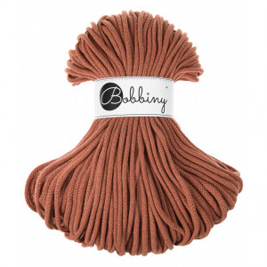 Bobbiny Premium Macramé Cord Yarn, Terra Cotta, 5 mm.