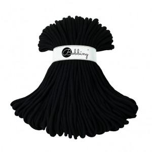 Bobbiny Premium Macramé Cord Yarn, Black, 9 mm.