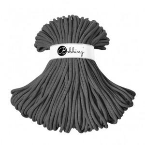 Bobbiny Premium Macramé Cord Yarn, Charcoal, 9 mm.