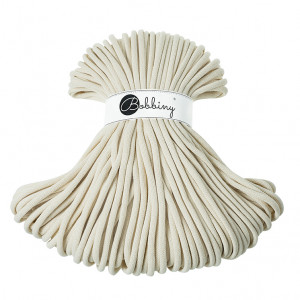 Bobbiny Premium Macramé Cord Yarn, Natural, 9 mm.