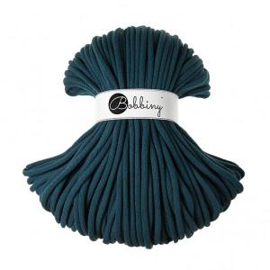 Bobbiny Premium Macramé Cord Yarn, Peacock Blue, 9 mm.