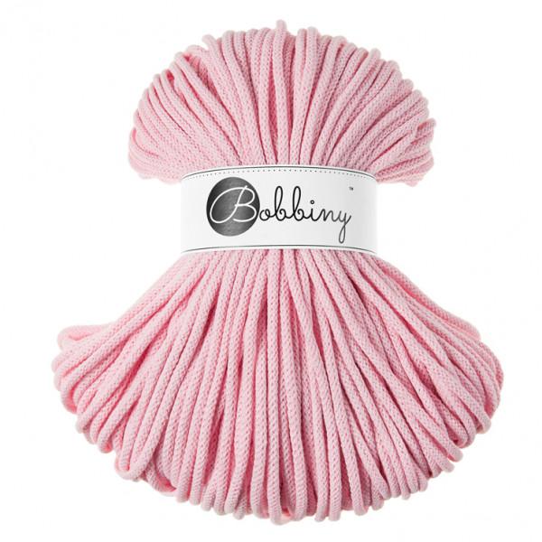 Bobbiny® Premium Macramé Cord Yarn, Baby Pink, 5 mm.