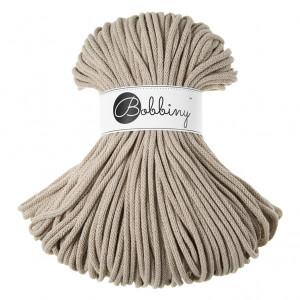 Bobbiny® Premium Macramé Cord Yarn, Beige, 5 mm.