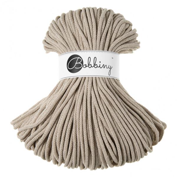 Bobbiny Premium Macramé Cord Yarn, Beige, 5 mm.