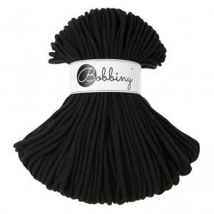 Bobbiny® Premium Macramé Cord Yarn, Black, 5 mm.