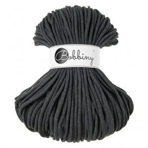 Bobbiny® Premium Macramé Cord Yarn, Charcoal, 5 mm.