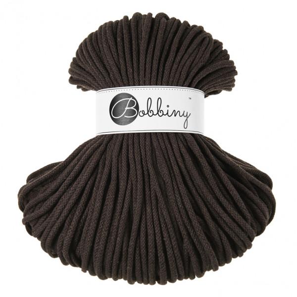 Bobbiny Premium Macramé Cord Yarn, Chocolate, 5 mm.