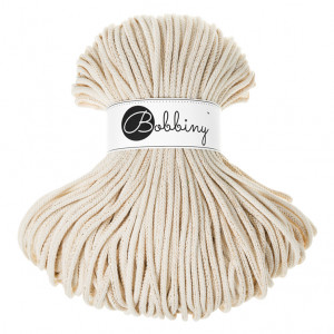 Bobbiny Premium Macramé Cord Yarn, Golden Natural, 5 mm.